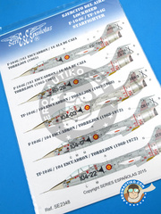 Series Españolas: Marking / livery 1/48 scale - Lockheed F-104 Starfighter G - Fuerza Aérea Española (ES0) - Torrejon Air Base - water slide decals and placement instructions - for all kits