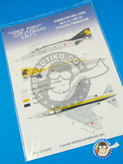 Series Españolas: Marking / livery 1/48 scale - McDonnell Douglas F-4 Phantom II C - Fuerza Aérea Española (ES0) - Torrejon Air Base - water slide decals and placement instructions - for all kits