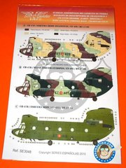 Series Españolas: Marking / livery 1/48 scale -  Boeing CH-47 Chinook C/D -  (ES0) 1962 - water slide decals and placement instructions