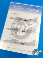 Series Españolas: Marking / livery 1/32 scale - McDonnell Douglas AV-8B Harrier - Armada Española (ES0) - 9th Sq Spanish Navy - water slide decals and placement instructions - for all kits