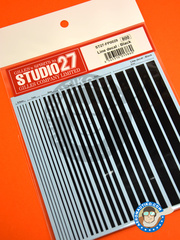 Studio27: Decals - Black lines - water slide decals - for all kits image