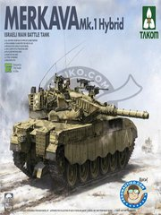 Takom: Model kit 1/35 scale - Merkava Mk.1 Hybrid - Israel - metal parts, photo-etched parts, plastic parts, water slide decals and assembly instructions