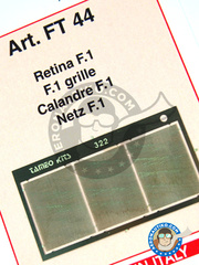 Tameo Kits: Mesh - Radiators grille - photo-etched parts - 3 units