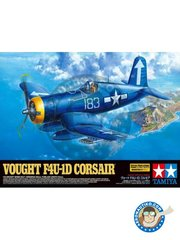 Tamiya: Airplane kit 1/32 scale - Vought F4U-1D Corsair - February 1945 (US7); 1945 (US7) - paint masks, photo-etched parts, plastic parts, rubber parts, water slide decals and assembly instructions