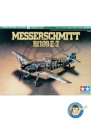 Tamiya: Airplane kit 1/72 scale - Messerschmitt Bf109 E-3 - France, Autumn 1940 (DE2); Norway, September 1940 (DE2) - Luftwaffe - plastic parts, water slide decals and assembly instructions