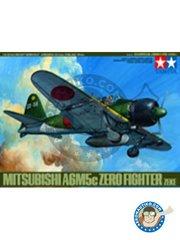 Tamiya: Airplane kit 1/48 scale - Mitsubishi A6M5c Zero ( Zeke ) - Iwakuni AB, September 1944 (JP0); Naruo AB, December 1944 (JP0); Kokubu AB, May 1945 (JP0); Kagoshima AB, June 1945 (JP0); Atsugi AB, August 1945 (JP0); Ohmura AB, 1945 (JP0); Genzan AB, 1945 (JP0) - plastic parts and assembly instructions