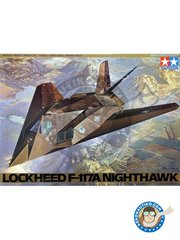 Tamiya: Airplane kit 1/48 scale - Lockheed F-117A Nighthawk -  (US1) - USAF - plastic parts, water slide decals and assembly instructions