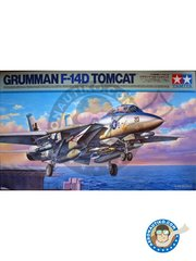 Tamiya: Model kit 1/48 scale - Grumman F-14D Tomcat | New 2018 -  (US0) - USAF - plastic parts, water slide decals and assembly instructions