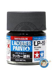 Tamiya: Lacquer paint - Tamiya LP-19 Gun metal - 10ml jar - for all kits