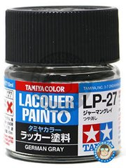Tamiya: Lacquer paint - Tamiya LP-27 German Gray - 10ml jar - for all kits
