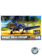 Tamiya: Airplane kit 1/32 scale - Vought F4U Corsair 1A - Vella Lavella Island, December 1943 (US7); Ondonga Airfield, November 1943 (US6) 1940 - paint masks, photo-etched parts, plastic parts, rubber parts, water slide decals and assembly instructions