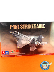 Tamiya: Airplane kit 1/72 scale - McDonnell Douglas F-15 Strike Eagle E - USAF (US2) 1985 - plastic parts, water slide decals and assembly instructions