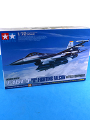 Tamiya: Airplane kit 1/72 scale - Lockheed Martin F-16 Fighting Falcon CJ Block 50 - USAF (US7); USAF (US0) - 15th Wing Spanish Air Force, different locations 2001, 2010 and 2011 - plastic model kit image