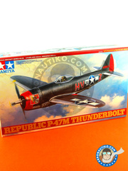 Tamiya: Airplane kit 1/48 scale - Republic P-47 Thunderbolt M - USAF (US7); USAF, 1945 (US7) 1945 - plastic parts, water slide decals and assembly instructions
