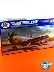 Tamiya: Airplane kit 1/48 scale - Republic P-47 Thunderbolt D Bubble Top - USAF (US7) - Ukranian 1944 - plastic model kit
