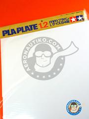 Tamiya: Polystyrene plastic sheets - Pla-plate 1.2 - plastic parts - 5 units