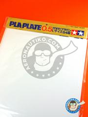 Tamiya: Polystyrene plastic sheets - Pla-plate 0.5 - plastic parts - 5 units