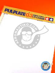 Tamiya: Polystyrene plastic sheets - Pla-plate 0.3 - plastic parts - 5 units