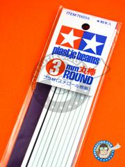 Tamiya: Material - Circular stick 3mm - plastic parts - 10 units