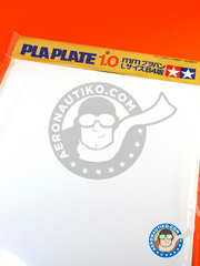 Tamiya: Polystyrene plastic sheets - Pla-plate 1.0 - plastic parts - 5 units