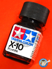 Tamiya: Enamel paint - X-10 - Gun metal - 10ml