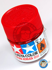 Tamiya: Acrylic paint - Red X-7 - for all kits