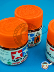 Tamiya: Acrylic paint - Clear orange X-26 - for all kits