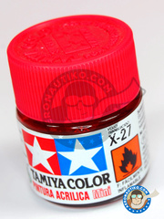 Tamiya: Acrylic paint - Clear Red X-27 - for all kits