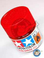 Tamiya: Acrylic paint - Flat Red XF-7 - for all kits