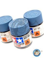 Tamiya: Acrylic paint - Medium Blue XF-18 - for all kits