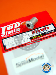 Top Studio: Rivets - 0.7mm rivets - turned metal parts