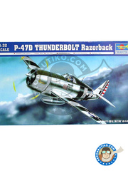 Trumpeter: Airplane kit 1/32 scale - Republic P-47 Thunderbolt D Razorback