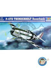 Trumpeter: Airplane kit 1/32 scale - Republic P-47 Thunderbolt D Razorback - Ukranian