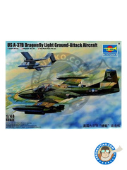Trumpeter: Airplane kit 1/48 scale - Cessna A-37 Dragonfly B - plastic parts, water slide decals and assembly instructions
