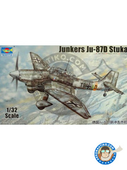 Trumpeter: Airplane kit 1/32 scale - Junkers Ju-87 Stuka D - Russia 1944 (DE2) - plastic model kit