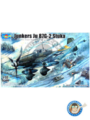 Trumpeter: Airplane kit 1/32 scale - Junkers Ju-87 Stuka G-2 - Achmer, early summer 1943. (DE2) - plastic model kit