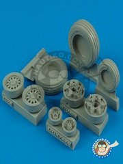 Wheelliant: Wheels 1/32 scale - Good Year Wheels for F-16 Fighting Falcon - resin parts - for Tamiya kits