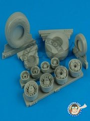 Wheelliant: Wheels 1/32 scale - F-14A Tomcat Weighted Wheels - USAF - resin parts and assembly instructions - for Tamiya kit references 60301, 60303, 60313