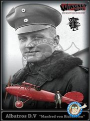 "Wingnut Wings: Airplane kit 1/32 scale - Albatros D.V ""Manfred von Richthofen"" with figure. - photo-etched parts, plastic parts, water slide decals and assembly instructions"