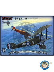 Wingnut Wings: Model kit 1/32 scale - Sopwith F.1 Camel and LVG C.VI | The Duellists - WWI - photo-etched parts, plastic parts, water slide decals and assembly instructions - 2 units