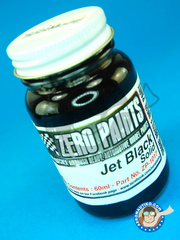 Zero Paints: Paint - Jet Black - Solid - 60ml - for Airbrush