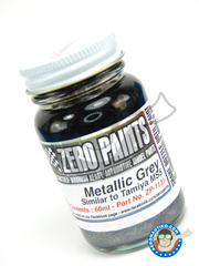 Zero Paints: Paint - Metallic Grey Paint - Similar to MS5 -  60ml - for Airbrush