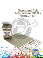 Zero Paints: Paint - Champagne Gold - 60ml - for airbrush