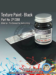 Zero Paints: Paint - Black Textured - 60ml