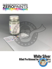 Zero Paints: Paint - White silver
