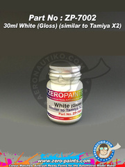 Zero Paints: Paint - White - Similar to Tamiya X-2 - 30ml - for airbrush