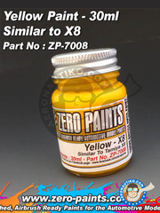Zero Paints: Paint - Yellow - Similar to Tamiya X-8 - 30ml - for airbrush