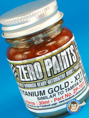 Zero Paints: Paint - Titanium Gold similar to X-31 - 30ml - for Airbrush