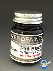 Zero Paints: Paint - Flat black - Similar to Tamiya XF-1 - 30ml - for airbrush