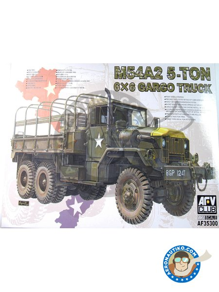 M54A2 5-ton 6x6 Cargo Truck | Cargo truck in 1/35 scale manufactured by AFV Club (ref. AF35300) image